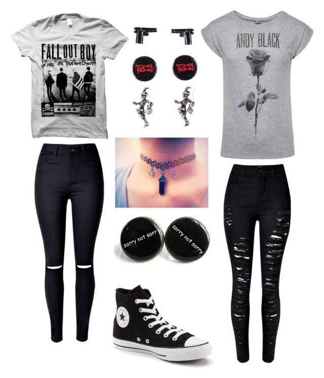 emo outfit <3 by amberpend on Polyvore featuring polyvore, fashion, style…