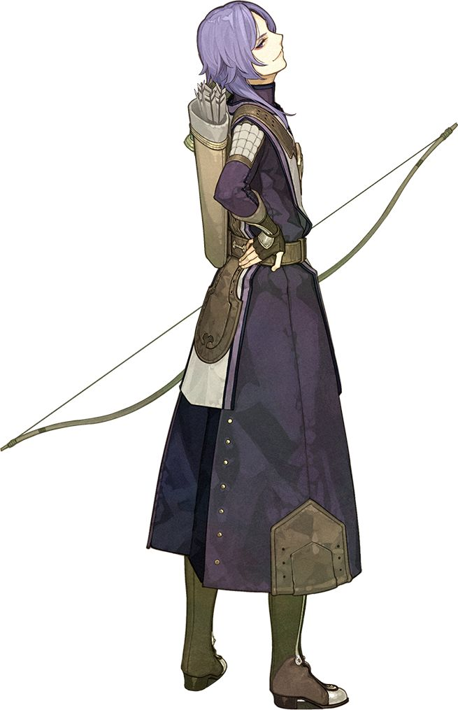 Purple hair sassy arrogant Archer