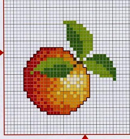 можно картинки по клеточкам персика данном случае используется