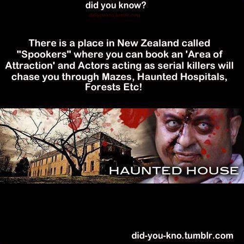Haha I did know that because I live very close to it and heaps of my friends work there :o I never realized how strange the concept of spookers was until reading this haha