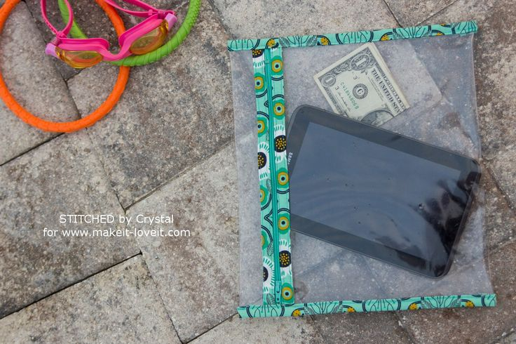 DIY Poolside Splash-Proof Pouches | Make It and Love It