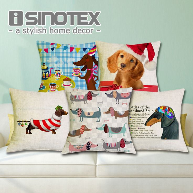 Small Sectional Sofa Cheap sofa decoration Buy Quality sofa uk directly from China sofa foam Suppliers Cushion Cover Christmas Festival Dachshund Happy Birthday Sausage Dog