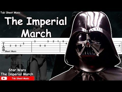 Star Wars - The Imperial March Guitar Tutorial - YouTube