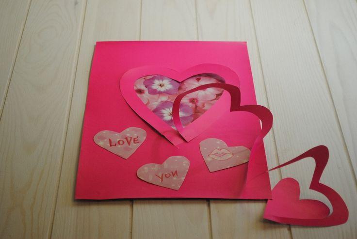 Представлено два шаблона и подробное описание для необычно красивой открытки на День Рождения, День всех Влюбленных, на День Матери и Женский день.