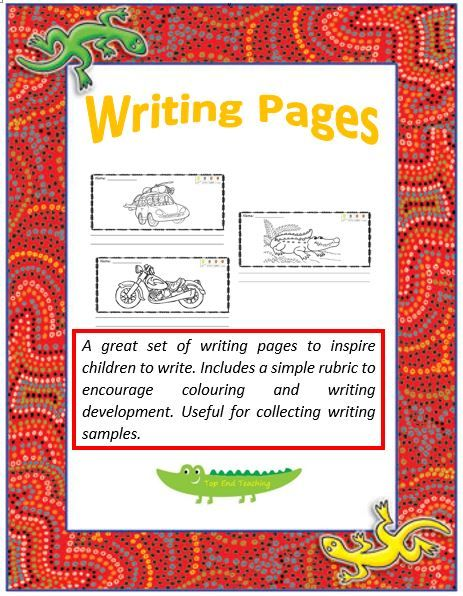 Story Writing Pages 1 Cover