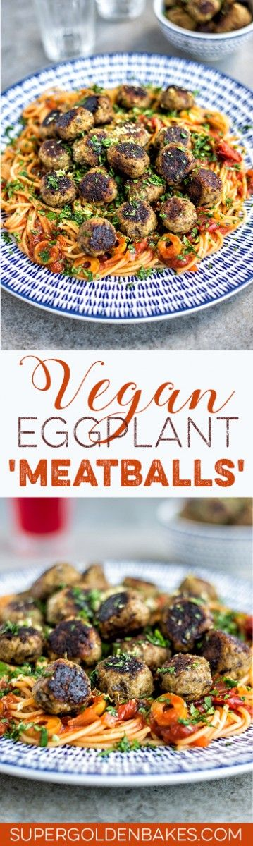 These meatless aubergine (eggplant) meatballs will delight vegans and meat eaters alike!