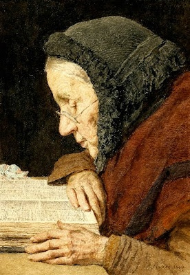 Albert Anker (1831-1910) / Anciana leyendo