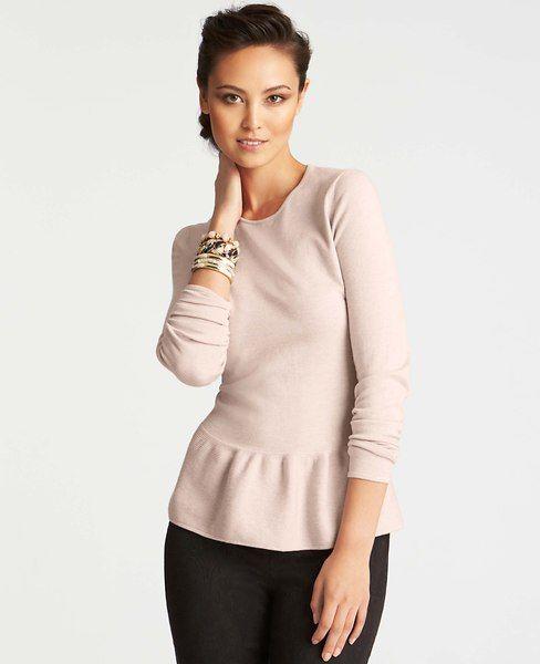 Tall Peplum Sweater | Ann Taylor