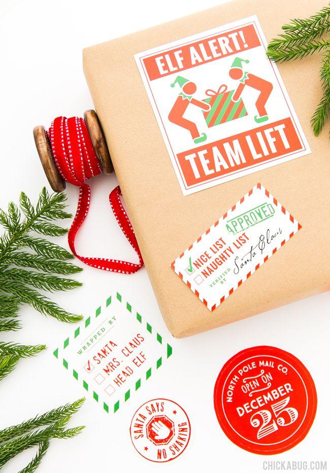 Santa's Workshop Christmas Gift Stickers (Set of 14) - Make Christmas magic!