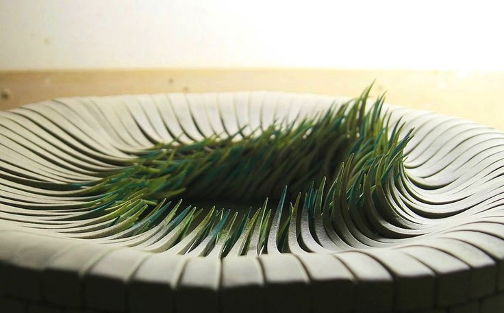 Alberto Bustos' Paperlike Ceramics Imitate Sprouting Blades of Grass  http://www.thisiscolossal.com/2015/06/alberto-bustoss-paperlike-ceramics-imitate-sprouting-blades-of-grass/