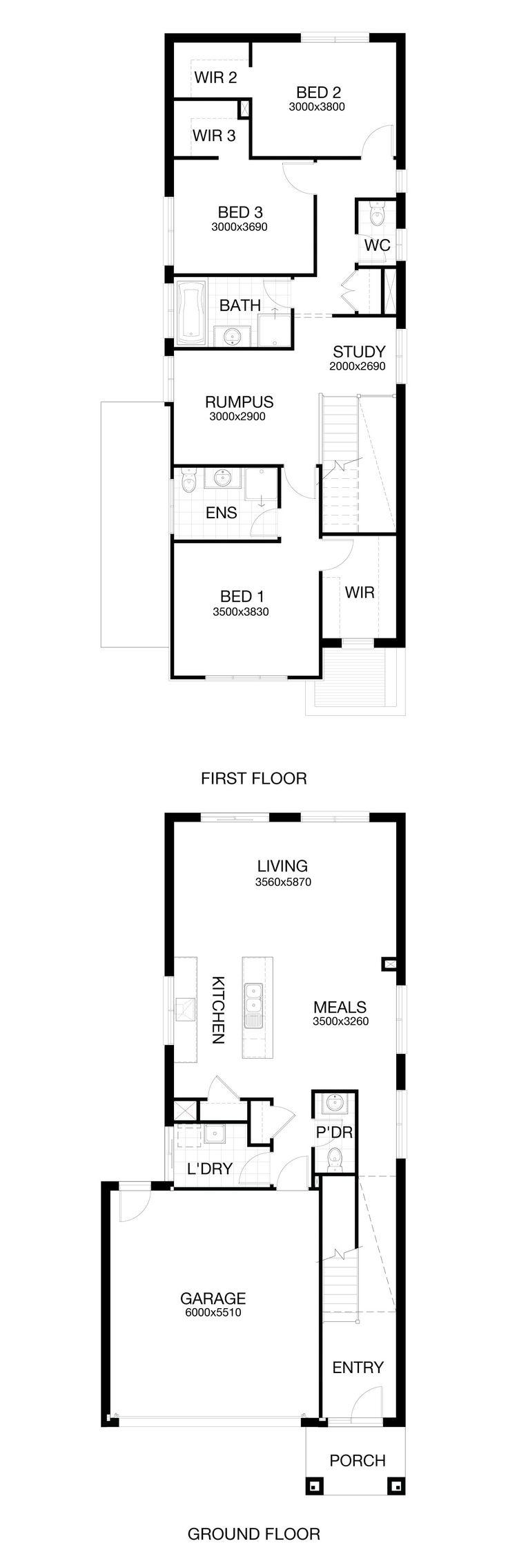 127 best House plans images on Pinterest | Home design, Floor ...