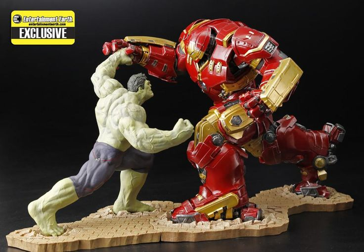 Marvel Avengers Age of Ultron ArtFx+ Hulkbuster Iron Man & Hulk EE Exclusive Action Figures