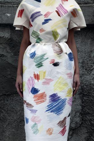 Vika GazinskayaFashion, Devote Gazinskaya, Style, Pattern, Scribble Dresses, Art Class, Colors Pencil, Prints, Pencil Dresses
