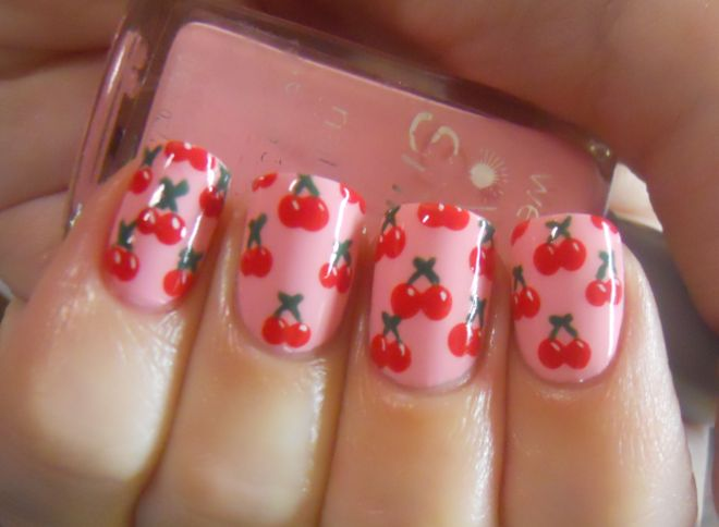 Holy Manicures: Cherry Nails.