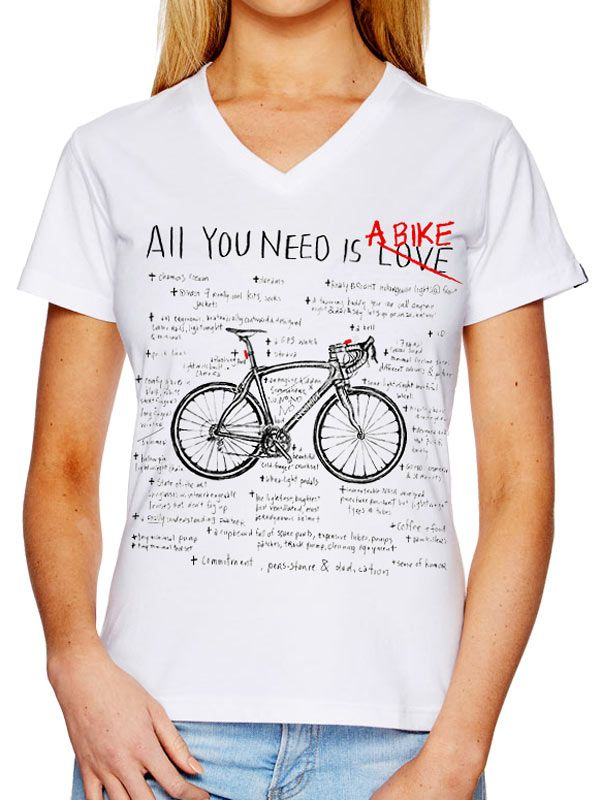"""All you Need Is ........ A Bike."" New tee design from Cycology. Perfect Xmas gift for the cycling obsessed in your life. #cycology"