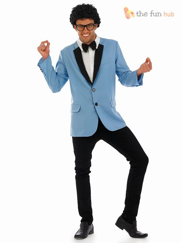 Mens 1950s 50s Teddy Boy Suit Rock and Roll Fancy Dress Grease Dandies Costume