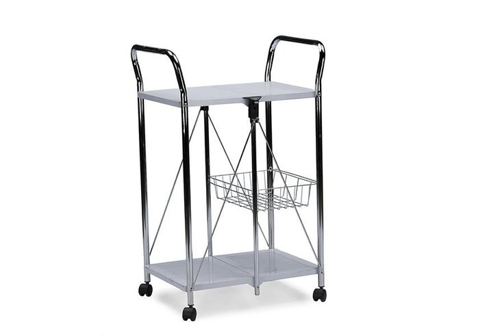 Watkins Steel Foldable Serving Trolley Cart WL-2414-WI