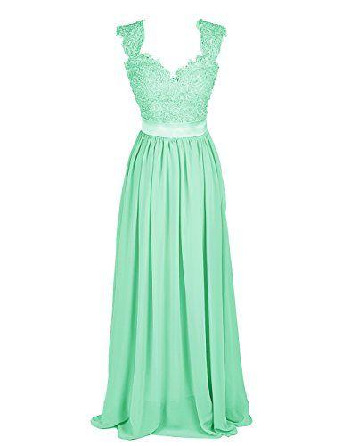 Dressystar Damen Elegant Chiffon Party Abendkleider mit Spitze Lang Maxikleid Ballkleider Brautjungfern Mintgrün in Größe 32 Dressystar http://www.amazon.de/dp/B00MVRSEDU/ref=cm_sw_r_pi_dp_MYrXub0ZDXN6T
