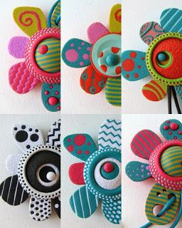 Polymer Clay Flowers by Con Tus Manos