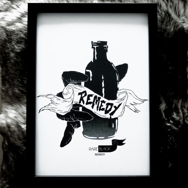 Remedy - ink sketch X print