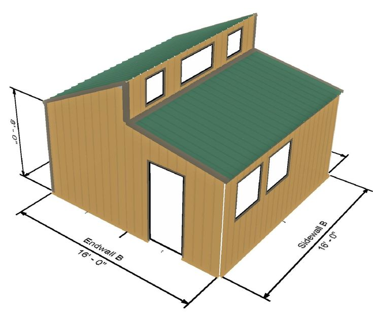 tiny house kit all steel framing roofing and siding 256 sq ft - Concrete Tiny House Plans