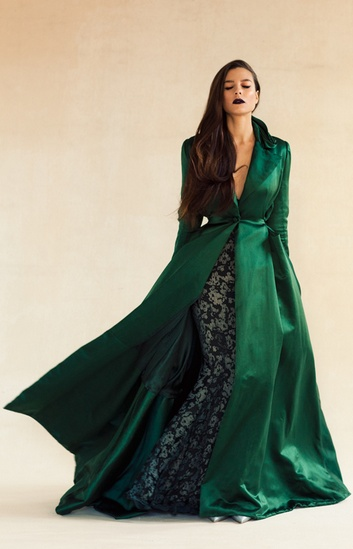 emerald coat - Zac Posen Glamour Gown