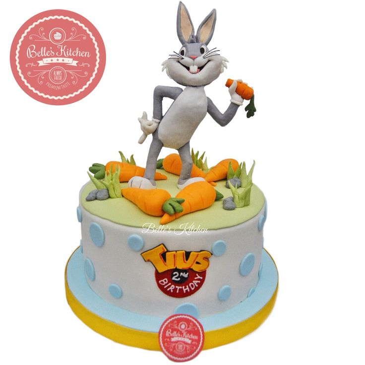 Looney Tunes Bugs Bunny 3D Cake By Belle's Kitchen, To Order Contact Our WA: 081294055786, Line: Bellekitchen, Also Be Sure To Follow Our Instagram @belle_kitchen