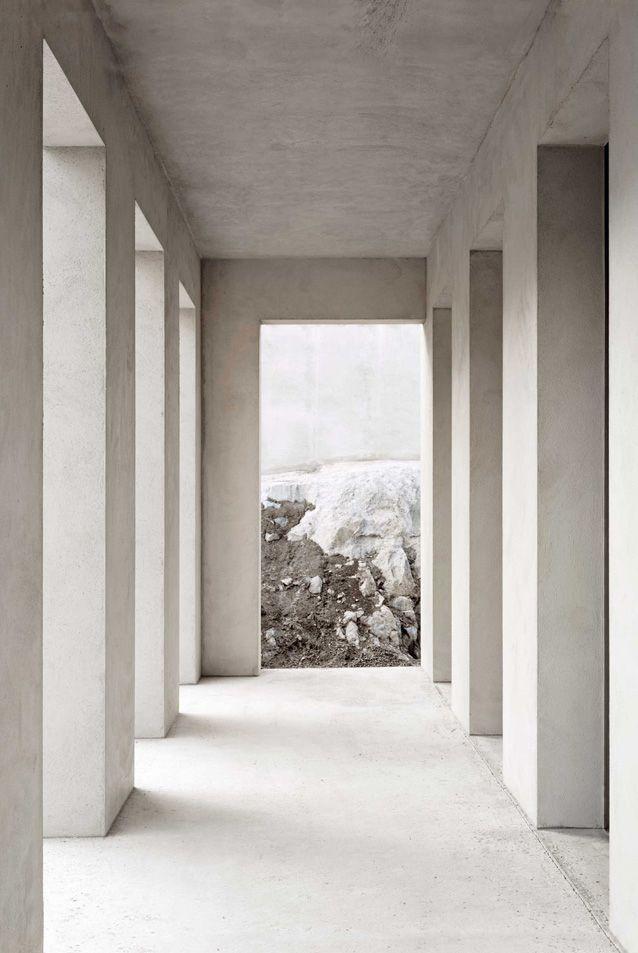 Modern, stripped down collonade by Hermansson Hiller Lundberg.