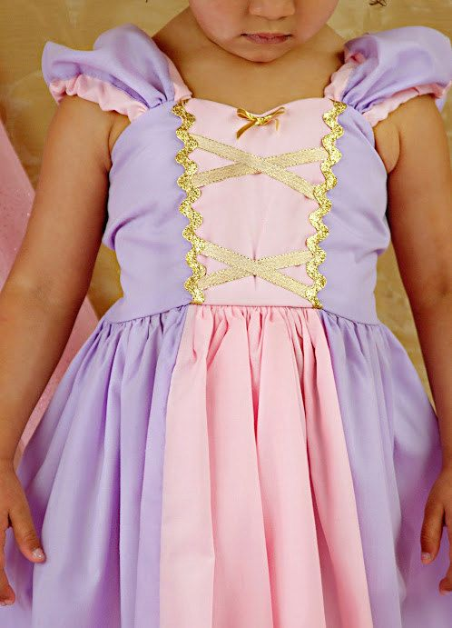 Rapunzel dress size 7/8 and 8/10 CUSTOM by loverdoversclothing
