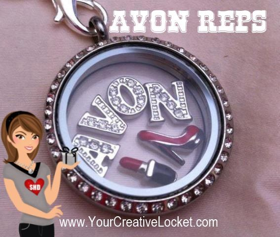 Are you an Avon rep? Love Avon?  This locket is perfect for you! Canadian and US orders accepted!   #avon  #southhilldesigns #lockets  #yourcreativelocket