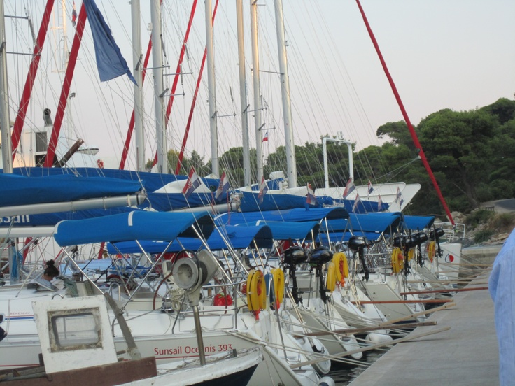 2012 August Croatia Sunsail Flotilla; 11 yachts in total