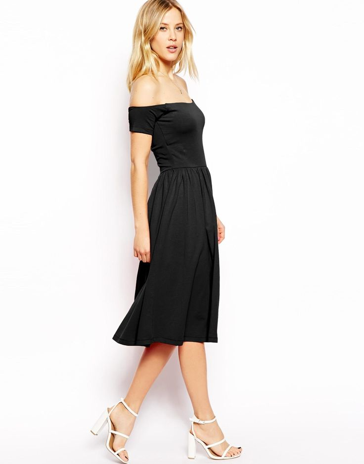 ASOS Midi Bardot Skater Dress .... Still can't decide if I should buy it or not
