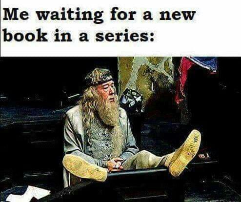 Actually me waiting for 'Lord of Shadows' to come out!