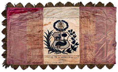 Estandarte peruano capturado por el Regimiento Santiago 5° de Línea en la Guerra del Pacífico.