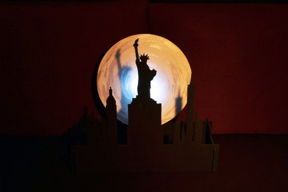 Lampara de paisaje de Nueva York. Estatua de la por WitchDreams
