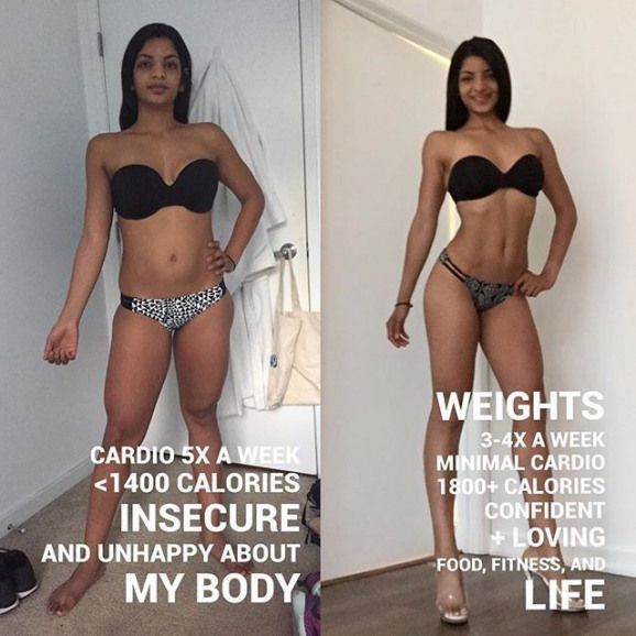 Cardio vs. Weights Weight-Loss Transformations | POPSUGAR Fitness #cardio #cardi…