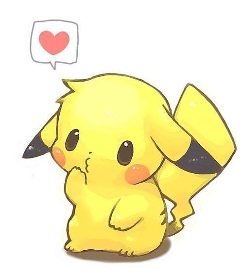 adorable Pikachu chibi; Pikachu isn't exactly my favorite Pokémon, but he is pretty iconic and undeniably adorable.