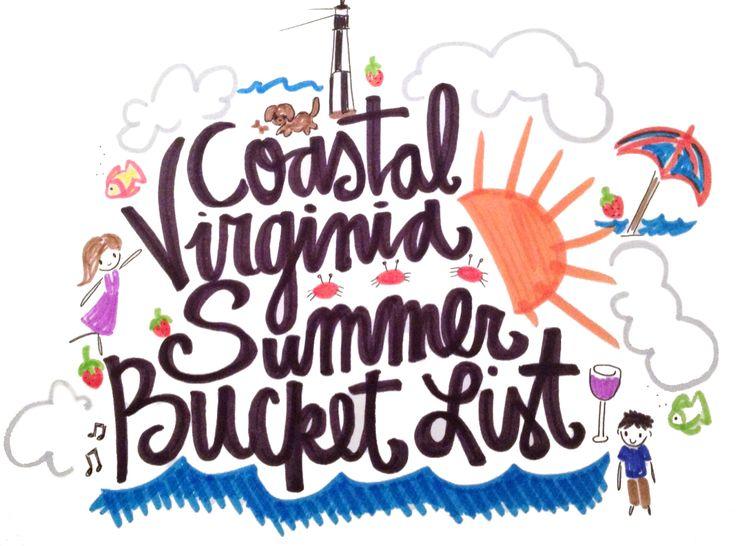 Virginia Beach Summer Bucket List  http://www.coastalvirginiamag.com/The-List/May-2014/Coastal-Virginia-Summer-Bucket-List/