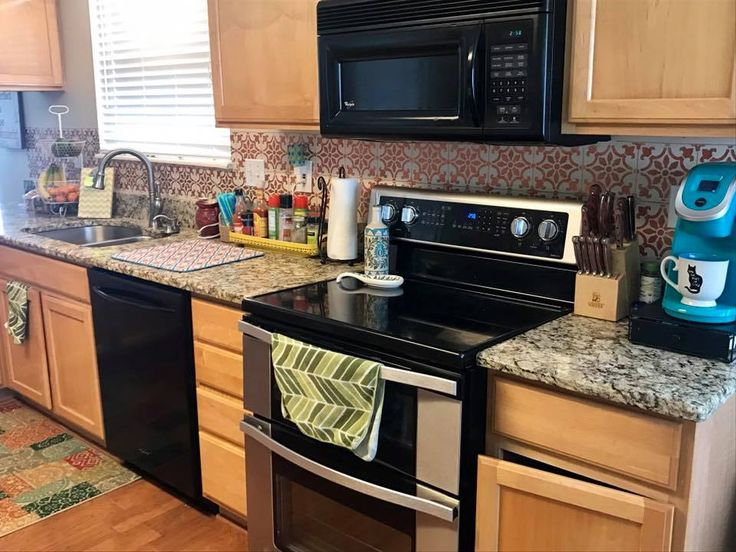 best 198 stenciled & painted kitchens images on pinterest | home