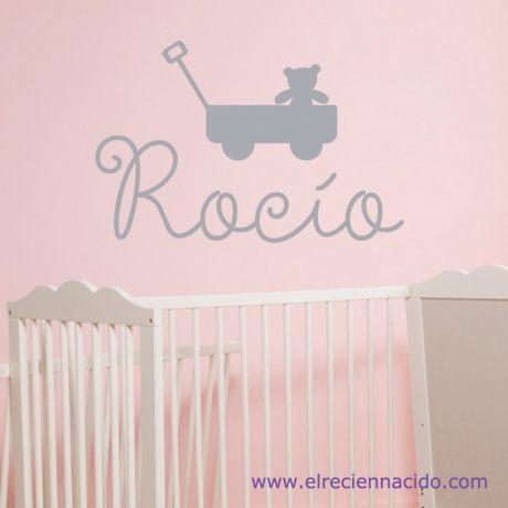 32 best vinilos bebes e infantiles images on pinterest lima initials and - Vinilo nombre bebe ...