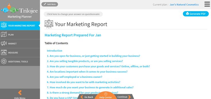 Receive A Personalized Marketing Report To Help You Create A