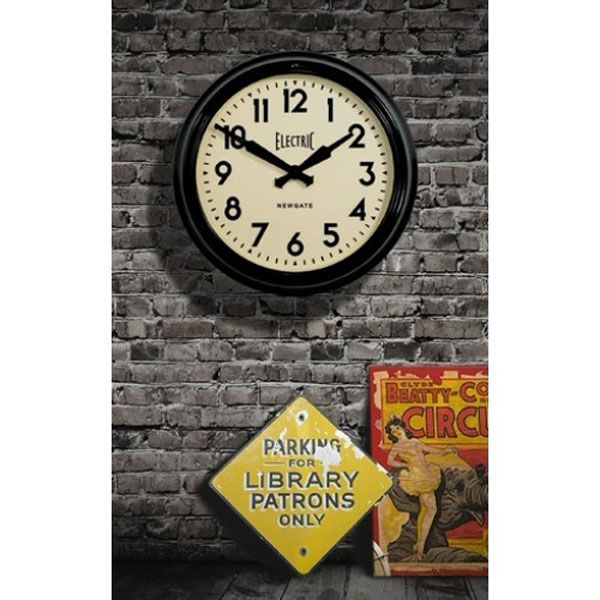 Large Black Kitchen Clock Part - 40: The Newgate Large Electric Station Clock Makes A Massive Impression On All  Visitors! This Huge Black Retro Wall Clock Is Available To Buy From Red  Candy.