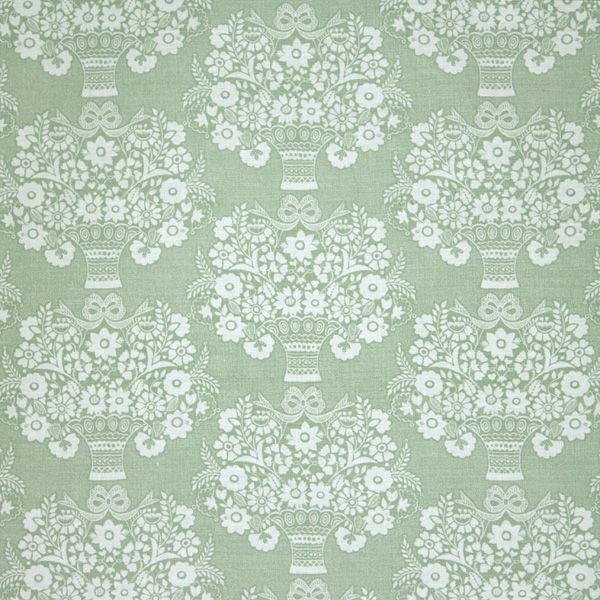 Gloriana Sage on Belgian Linen | Celia Birtwell.  LOVE this design, other colors available.  Bedroom Curtains?  Cushion?  Expensive (of course)