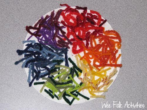 Yarn Color Wheel: Color Art Activities, Cc Color Unit, Color Activity, Color Identifying, Yarn Color, Art Ideas, Color Lessons