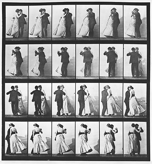 Eadweard Muybridge (American, born Great Britain, 1830–1904). Dancing a Waltz, 1883–86. The Metropolitan Museum of Art, New York. Gift of the Philadelphia Commercial Museum, 1938 (38.82.22) #dance