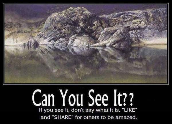 Prepare to Have Your Mind Blown. there is a mother and a child in this picture if move your head to the left 90 degrees.