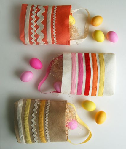 Molly's Sketchbook: Easter Egg Hunt Bags - The Purl Bee - Knitting Crochet Sewing Embroidery Crafts Patterns and Ideas!