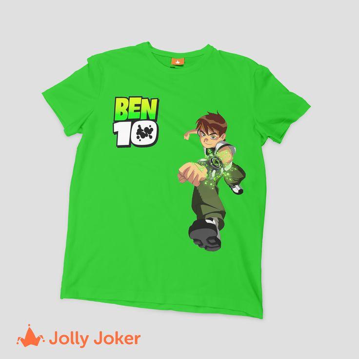 ¿A tu hijo le encanta Ben 10? ¿Tienes una fiesta de cumpleaños? Las camisetas son geniales para cualquier evento! Diseña y mandar a estampar tu camiseta personalizada, los niños se van a sentir geniales con ese gran regalo