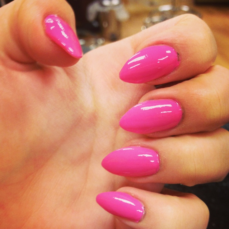 slowly getting into this trend...pointed nails...still has to grow on me some but im gonna try it!