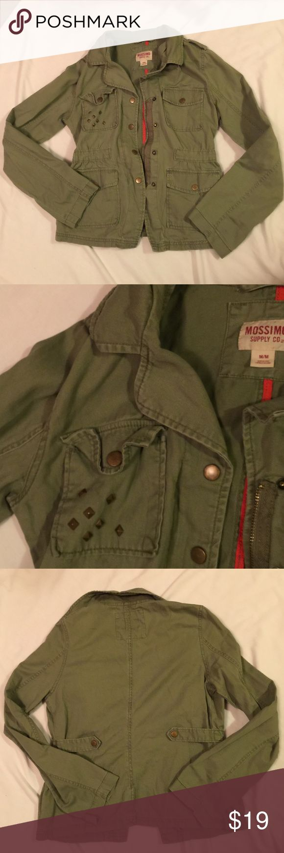 Green Military Jacket Great condition juniors olive green military jacket. Mossimo Supply Co. Jackets & Coats Utility Jackets